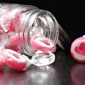 Rock Candy in a Glass Jar